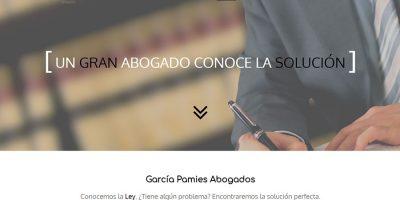 Página principal de García Pamies Abogados