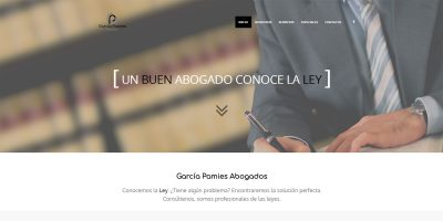 Portada de la web de García Pamies Abogados