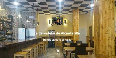 Portada de la web de La Cerveteka de Alcantarilla