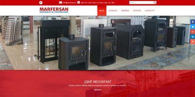 Portada de la web de Marfersan