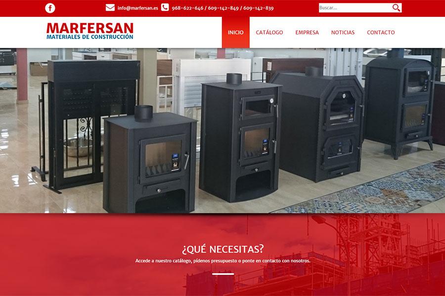 Página principal de Marfersan