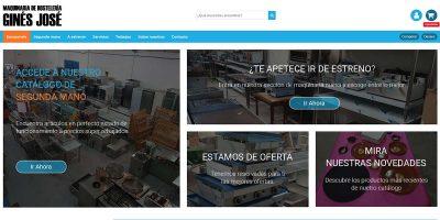 Portada web maquinaria de hostelería Ginés José