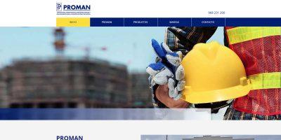 Portada página web Proman
