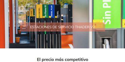 Portada web Estarción de Servicio Thader Murcia