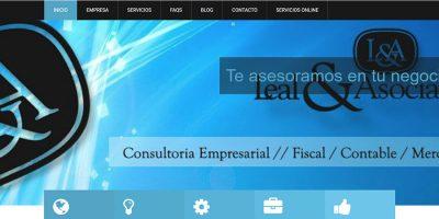 Portada de la web de Leal & Asociados