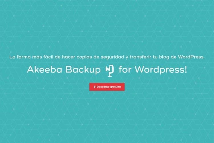 Akeeba Backup para Wordpress copias de seguridad