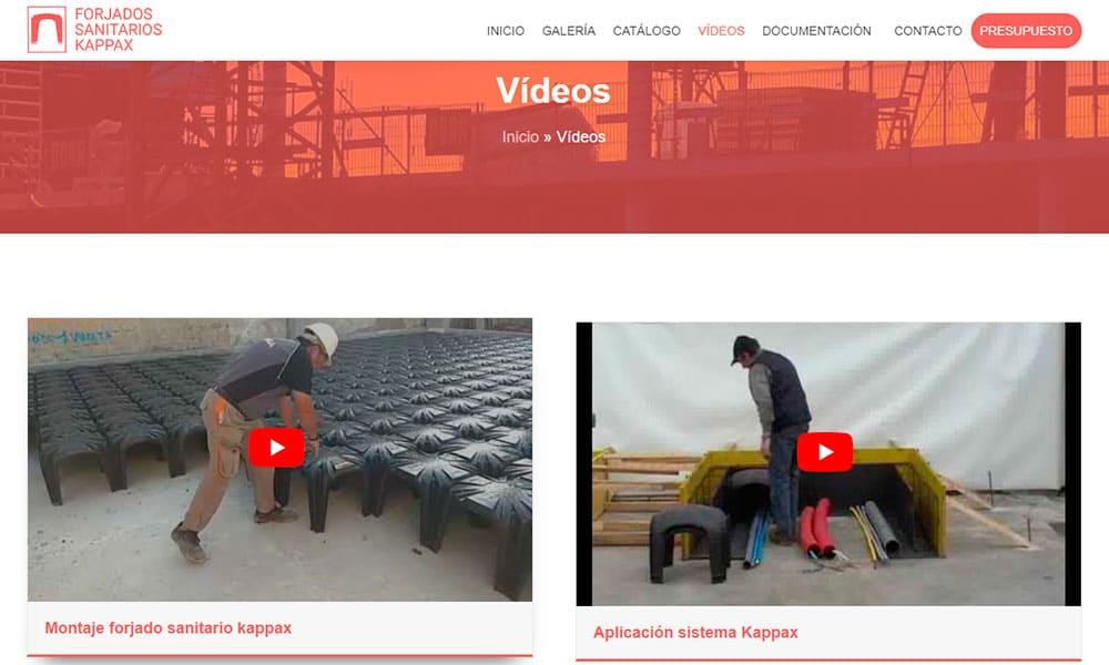 Vídeos web Forjados Sanitarios