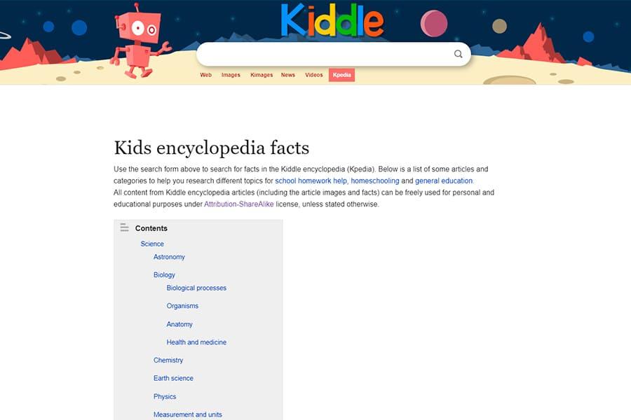 Kiddle Kpedia